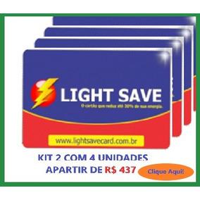 Economizador De Energia Light Save Card Kit 2 Com 4 Unid