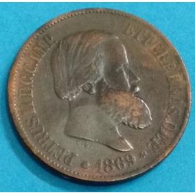 Moeda Brasil 20 Réis 1869...814br