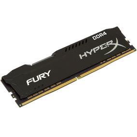 Memória Hyperx Fury Ddr4 8gb 2400 Cl15 Para Desktop - Preto