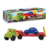 Mini Truck Camion Con Acoplado Y Auto Duravit Mundo Manias
