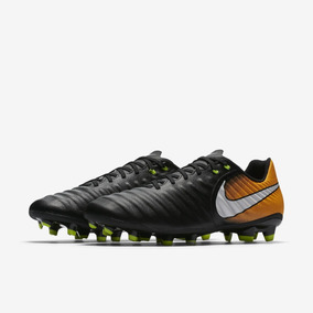09b99236fb Chuteira Campo Nike Tiempo Ligera 4 Preta laranja - Footlet