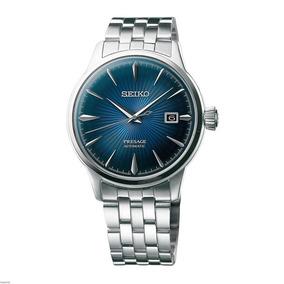 Reloj Seiko Presage Automático Azul Acero Cocktail