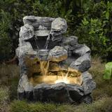 Jeco Rock Creek En Cascada Al Aire Libre Para Fuentes Inter