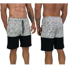 Bermuda Moletom Shorts Moleton Calção Camuflado Floral Slim