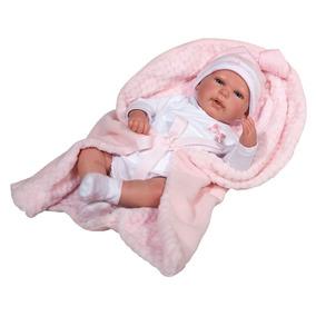 Boneca Bebê - 40 Cm - Reborn - Olhos Abertos - Novabink