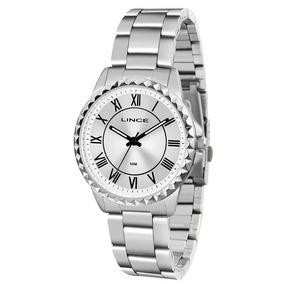 331181c4165 Relogio Feminino Classico Prateado Fosco Lince Parana - Relógios De ...