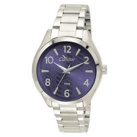 Relógio Condor Prata Fundo Escuro, Co2036ksx/3g