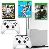 Xbox One Slim 1tb 2 Controles, Fifa 19, Gta V Y Call Of Duty