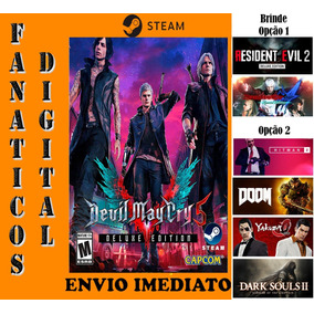 Devil May Cry 5 Deluxe Edition Pc Steam + Re2 Ou + 4 Jogos