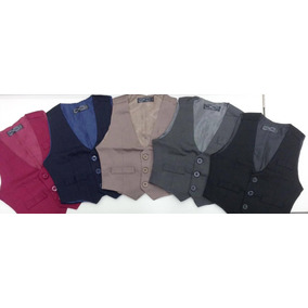 8ddc0e7db Chaleco De Vestir Slim Fit Niños T2 Al 18 Varios Colores