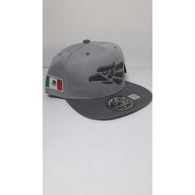 Gorra Original Hecho En Mexico Aguila Snapback Plata Gris 4e68e34f57c