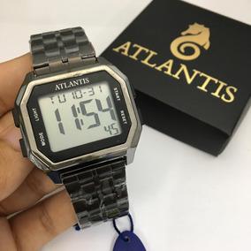 Relógio Unissex Original Atlantis Horário Digital Calendario