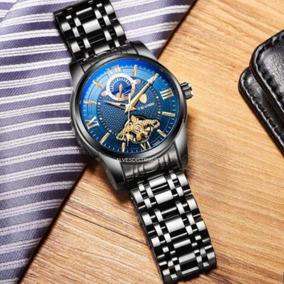Relógio Masculino Tevise Automatico Fase Da Lua Original