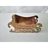 Antiguo Trineo De Bronce Forjado Carreta Antigua Coleccion