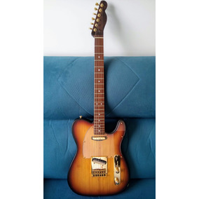 Guitarra Telecaster Araucária Malagoli Custom Rk Orange Drop