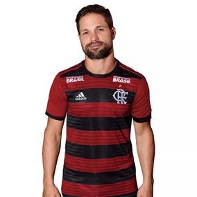 Camisa Flamengo Jogo 1 Patrocínios adidas 2018 - Com Patrocí
