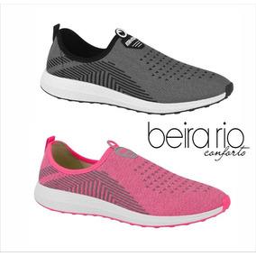 Tênis Beira Rio Active Sem Cadarço Grafite - Pink 4802.100.