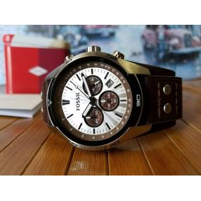 5063f228bb86 Reloj Casual Hombre Fossil Acero Inox Correa Cuero Café