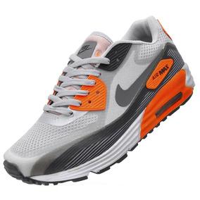 Tenis Nike Air Max 90 Preto Com Cinza Respingos - Tênis no Mercado ... f561c9286bf26