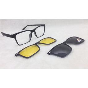 Armação De Óculos P  Grau Clip On 3 Em 1 Novidade S001 4ff25c101a