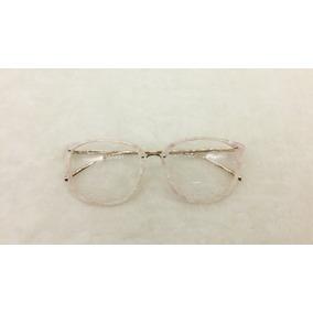 Óculos Armação De Grau Feminino Redondo Geek Frete + Brinde 2a989477fd