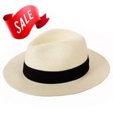 Sombrero De Paja De Panamá Summer Beach Sun Hat Upf50 + P 5739cefb2a4