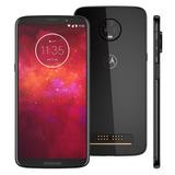 Motorola Moto Z3 Play Ônix 128gb Vision 6 Traseira 8.1 6gb