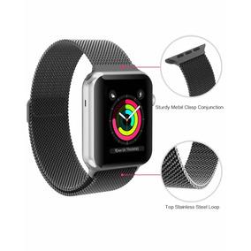 Correa De Malla Para Apple Watch 42mm Magnética Negra