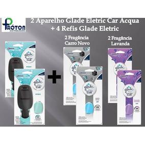 2 Aparelhos Glade Eletric Car Acqua + 4 Refis Glade Eletric