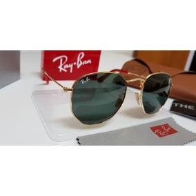 ef0e54361b784 Óculos Sol Ray-ban Hexagonal Rb3548 Ferrari G15 Com Dourado. R  320