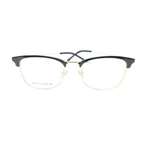 fef3606b1 Óculos Armação De Grau Geek Retangular Haste Metal Psg-3101