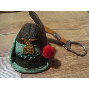 Chaveiro Antigo Alpino Chapéu Exército Militar Italiano Raro dc7a3117e26