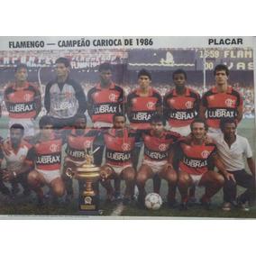 Pôster Do Flamengo Campeão Carioca De 1986