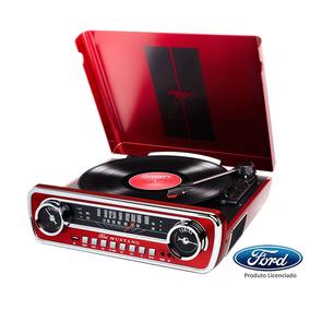 Toca-discos Vinil Mustang Ion C/ Rádio, Usb, Entrada Auxi