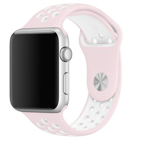 Extensible Correa Deportiva Apple Watch Rosa/blanco 42mm