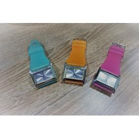 Relógio Guess 160430l1 Pulseira Borracha Azul Laranja Rosa