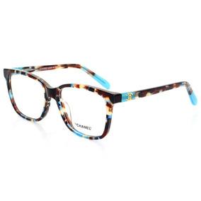 Armacao Oculos Azul Bebe De Grau Chanel - Óculos no Mercado Livre Brasil 88eb9e86bb