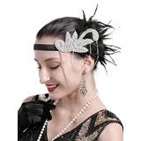 46aa05af6daf5 Gorros Mujer Años 20 Gatsby Flapper Feather
