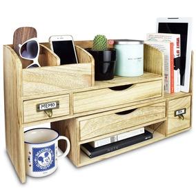 Ikee Design Adjustable Wooden Desktop Organizer Office Suppl