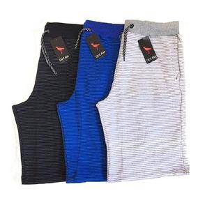 Jogo C/5 Bermudas Moleton Marca Masculina Shorts De Academia