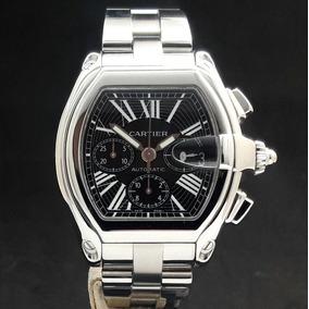 46ce847f64a Cartier Roadster Chronograph Fundo Escuro. Masculino - Relógios De ...