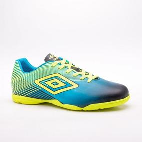 Chuteira Umbro Slice Ii Futsal Verde E Azul - Chuteiras no Mercado ... 295ea00424262