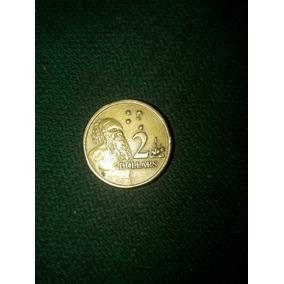 Moeda Rara 2 Dollars Rainha Elizabeth Ii 1989