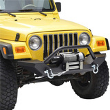 Defensa De Jeep Wrangler Yj Tj 1988-2006 Acero Rock Crawler