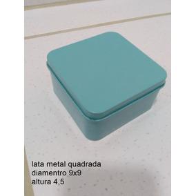 050930b88229e 30 Lata De Metal Quadrada 9x9x4,5 Lembrancinha Festa Luxo · R  99 99. 12x  R  9
