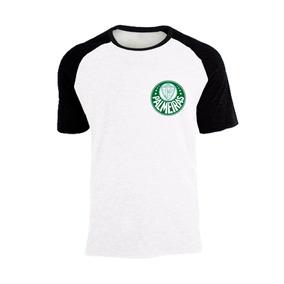 Camisa Raglan Time Palmeiras Simbolo No Peito Unissex Oferta f905a51ed4178