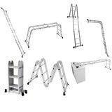Escada Multifuncional 4x3 12 Degraus 5131 Em Alumínio Suport