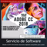 Pack Diseño Illus-trator Photo-shop Inde-sign Cc 2018