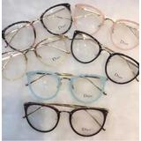4809255b161fe Óculos Armação De Grau Redondo Geek Metal Oferta Varias Cor