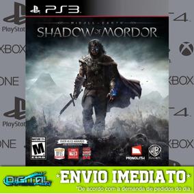 Terra Média Sombras De Mordor Ps3 Midia Digital Envio Rapido